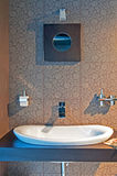 Modern Bathroom. Picture of modern and trendy bathroom, horizontal shot Royalty Free Stock Photos