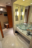 Modern Bathroom. Picture of modern and trendy bathroom, vertical shot Stock Image