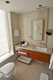 Modern Bathroom. Picture of modern and trendy bathroom, vertical shot Royalty Free Stock Image