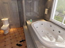 Modern bathroom. 3D rendering of a modern bathroom Stock Photo