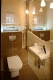 Modern Bathroom. A small modern bathroom with luxury fittings stock photography
