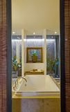 Modern bathroom. Beautiful interior of a modern bathroom Royalty Free Stock Images