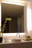 A modern bathroom. Modern style interior design of a bathroom Royalty Free Stock Photos