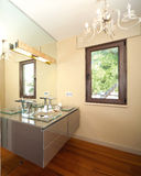 Modern bathroom. With glass sink Royalty Free Stock Photography