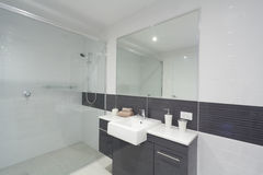 Modern bathroom. With shower, sink and mirror Royalty Free Stock Photography