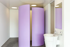 Modern bathroom. Interior view of a modern hotel room Royalty Free Stock Images