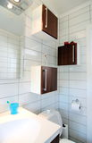 Modern bathroom. Interior of modern bathroom, corner details stock photo