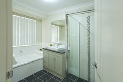 Modern bathroom. New modern bathroom in australian townhouse Royalty Free Stock Photography