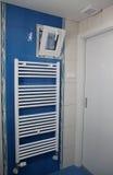 Modern bathroom. Modern small bathroom in flat stock image