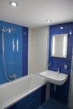 Modern bathroom. Modern small bathroom in flat royalty free stock photo
