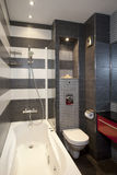 Modern bathroom. With inox accessories Royalty Free Stock Image