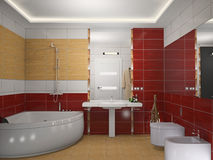 Modern a bathroom 3D Royalty Free Stock Image
