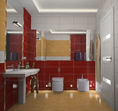 Modern  a bathroom 3D Royalty Free Stock Images
