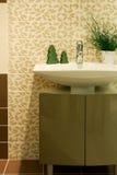 Modern bathroom. Brown modern bathroom in a house Stock Photos