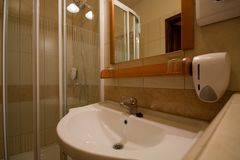 Modern bathroom. With tiled walls Stock Image