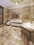 Modern bathroom with access to sauna Stock Images