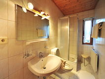 Modern bathroom in an apartment Royalty Free Stock Photo