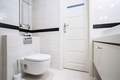 Modern bathroom in balck and white royalty free stock images