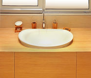 Modern bathroom basin Royalty Free Stock Photos