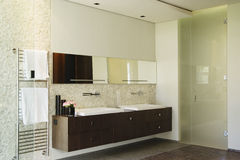 Modern Bathroom with basin Stock Photography