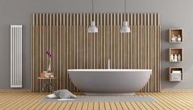 Modern bathroom with bathtub Stock Photography