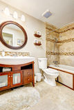 Modern bathroom with beautiful vanity cabinet Stock Photos