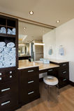 Modern Bathroom With Cabinets And Stool Stock Image