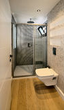 Modern bathroom. Contemporary bathroom suite with modern shower and toilet Stock Photography