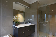 A modern bathroom Stock Images