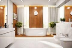 Modern bathroom design in large house. Modern bathroom design interior in large house stock images