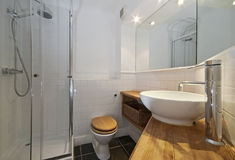 Modern bathroom with designer suite Royalty Free Stock Image