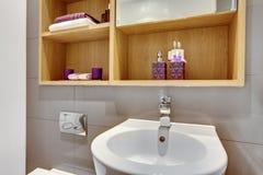 Modern bathroom detail Royalty Free Stock Images