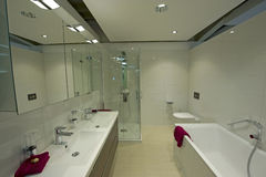 Modern bathroom detail royalty free stock photos