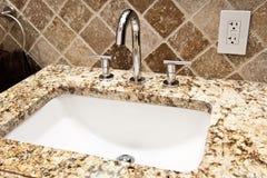 Modern bathroom faucet Stock Photos