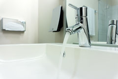 Modern bathroom faucet Royalty Free Stock Photos