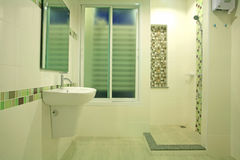 Modern bathroom by green concept Royalty Free Stock Image