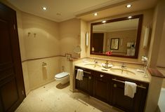 Modern bathroom in hotel Royalty Free Stock Photos