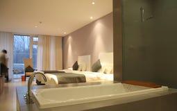 Modern bathroom and hotel room Stock Photos