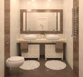 Modern bathroom interior. Stock Image