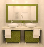 Modern bathroom interior. Royalty Free Stock Photo