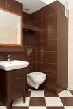 Modern bathroom interior stock image