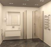 Modern bathroom interior. Royalty Free Stock Photos