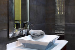 Modern bathroom interior. Luxury design closeup Royalty Free Stock Photo