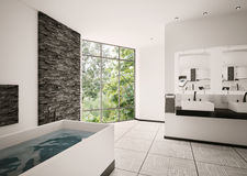 Modern bathroom interior 3d render Royalty Free Stock Photos