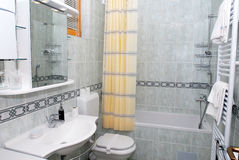 Modern bathroom interior. In luxury resort, elegance style stock photography