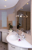 Modern bathroom interior royalty free stock photos