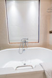 Modern bathroom interior with bathtub Royalty Free Stock Photography