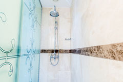 Modern bathroom interior with bathtub Stock Photography