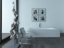 Modern bathroom interior with bathub Stock Image