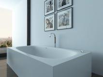 Modern bathroom interior with bathub Stock Photography